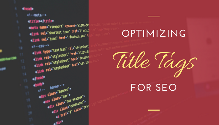 "Featured image for blog post, ""SEO 101 - Optimizing Title Tags"""