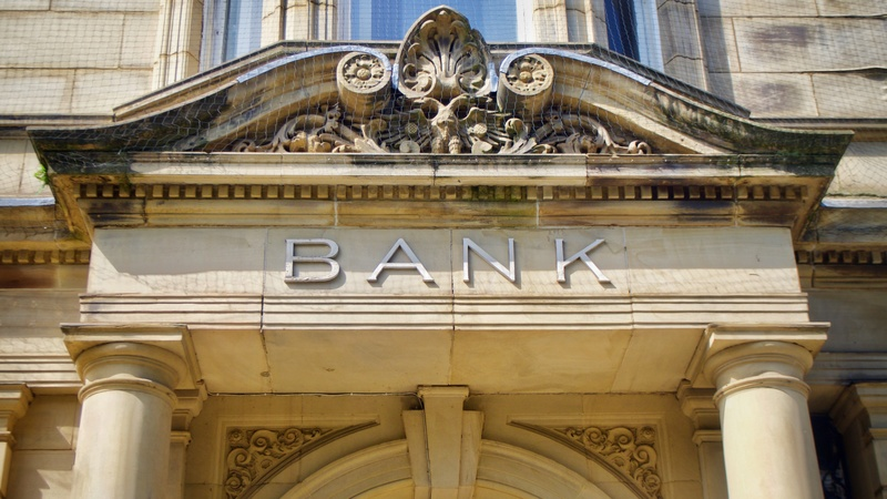 A photo of a bank