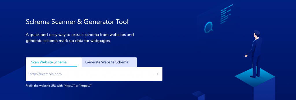 Synup's schema generator tool's banner on the website