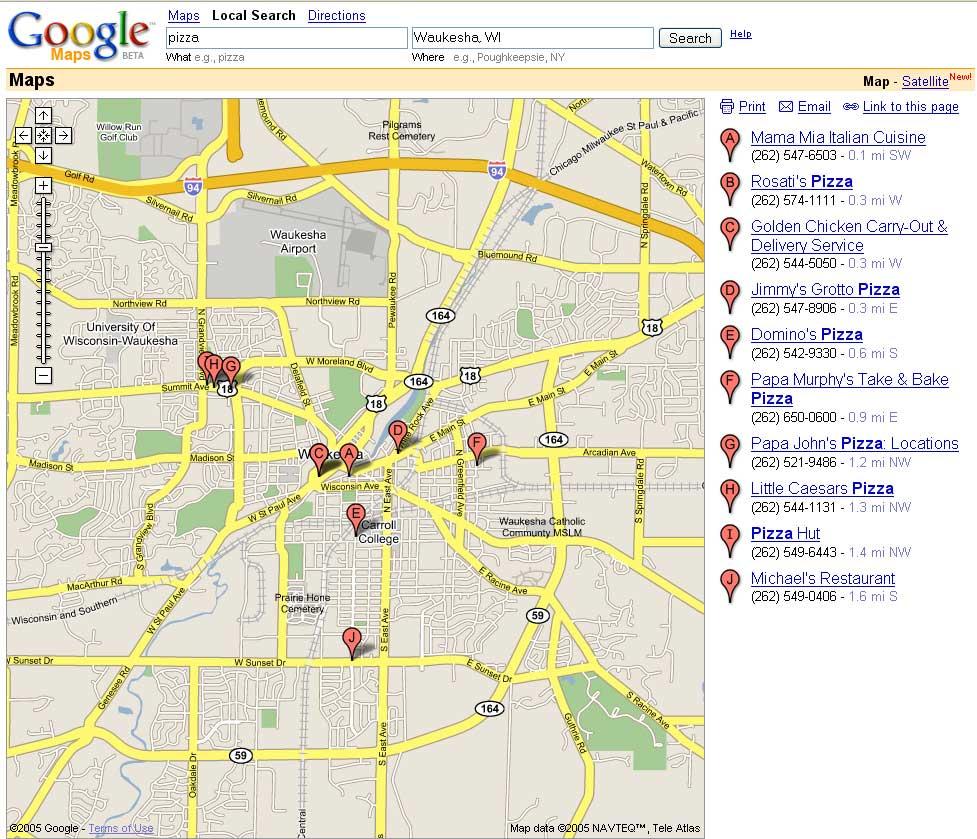 Old Google Maps